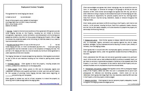 Employment Contract Template » Microsoft Word Templates