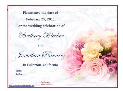 Here is the preview and download link for Free Wedding Invitation Template