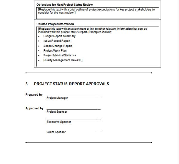 Project Status Report Template (4)