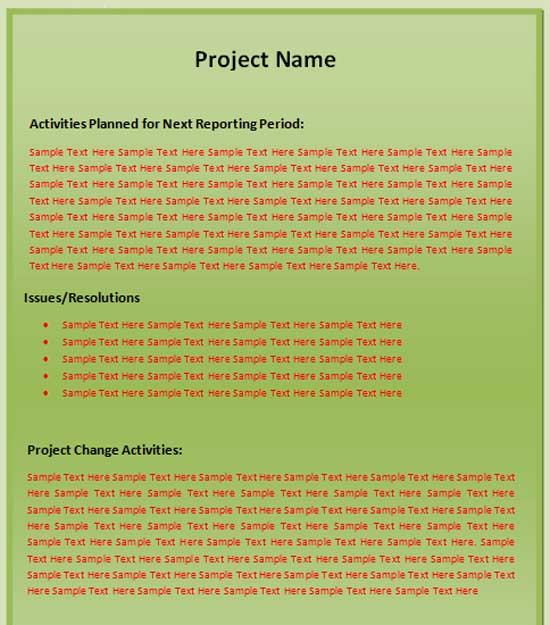 Status Report Template (1)